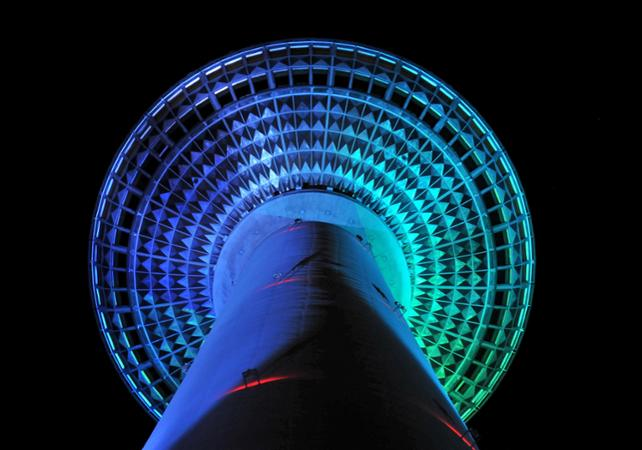 berlin-tv-tower-at-night-from-below